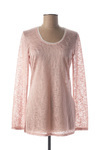 Pull col rond femme Double Jeu rose taille : 38 14 FR (FR)