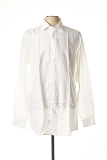 Chemise manches longues homme Belloni blanc taille : L 34 FR (FR)
