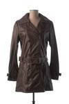 Veste en cuir femme Rose Garden marron taille : 34 78 FR (FR)