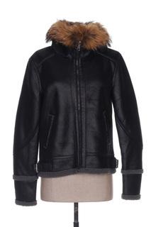 Veste simili cuir femme Mon Beau Vetement noir taille : 38 63 FR (FR)