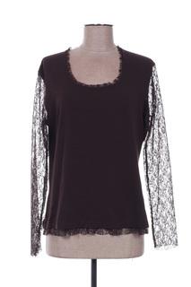 T-shirt manches longues femme Guy Dubouis marron taille : 42 19 FR (FR)