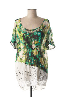 Tunique manches longues femme Elly Italia vert taille : 38 90 FR (FR)