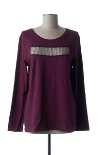 T-shirt manches longues femme Lauren Vidal violet taille : 38 35 FR (FR)