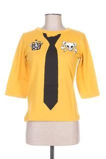 T-shirt manches longues femme Venca jaune taille : 34 2 FR (FR)