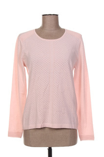 Pull col rond femme Lucia rose taille : 38 29 FR (FR)