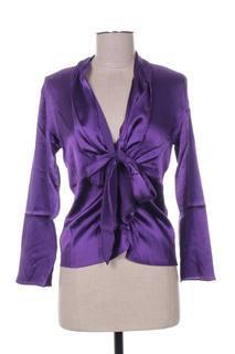 Chemisier manches longues femme Mine De Rien violet taille : 36 42 FR (FR)