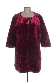Manteau long femme Mat. rouge taille : 48 22 FR (FR)