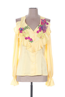 Chemisier manches longues femme Faust jaune taille : 36 13 FR (FR)