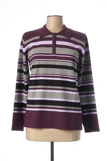 Polo manches longues femme Lebek violet taille : 42 27 FR (FR)