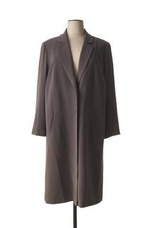 Manteau long femme Ulla Popken gris taille : 52 124 FR (FR)