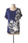 T-shirt manches courtes femme Desigual bleu taille : 36 19 FR (FR)