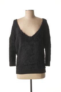 Pull col V femme Marciano noir taille : 40 55 FR (FR)