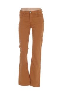 Pantalon casual femme Mensi Collezione marron taille : 42 27 FR (FR)