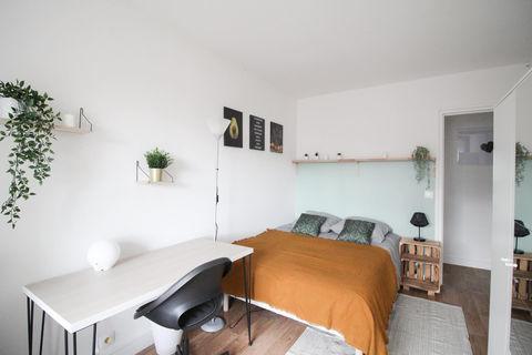 Belle chambre chaleureuse – 10m² - LV8 760 Levallois-Perret (92300)
