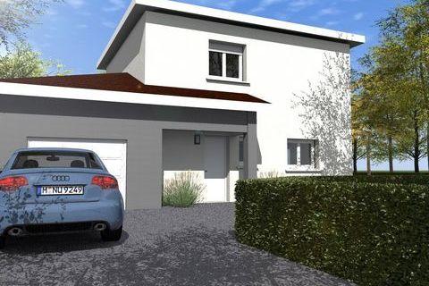 Maison contemporaine avec garage accolé 425000 Beynost (01700)