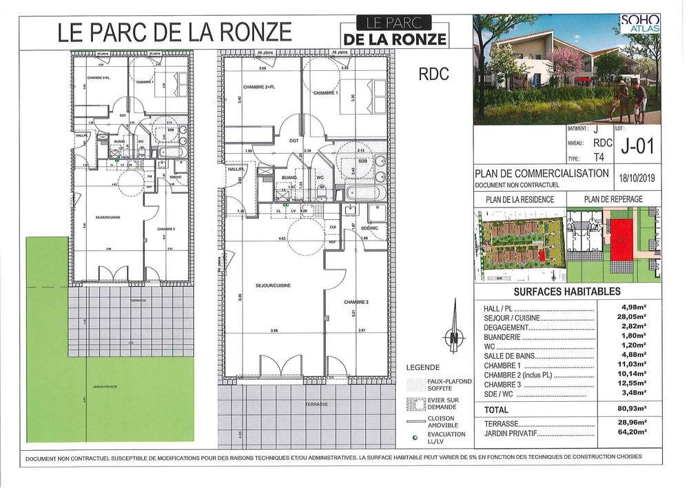 Vente Appartement Appartement Neuf Lot J01-T4 80.93 m2 - Terrasse + Jardin Villefranche sur saone