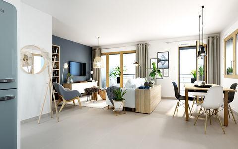 CONFLUENCE_Appartement 4p 91m2 donnant sur balcon 9.8m2 avec sublime vue sur fourvière - FRAIS DE NOTAIRE OFFE 701400 Lyon 2