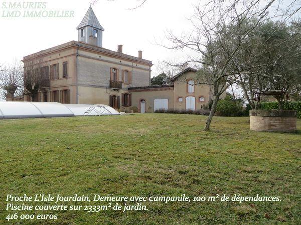 Annonce vente maison l 39 isle jourdain 32600 304 m 416 for Piscine l isle jourdain