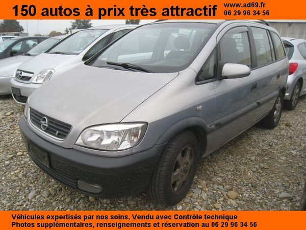 voiture opel zafira 2 0 dti diesel 5p 7 places occasion diesel 2003 180000 km 2290. Black Bedroom Furniture Sets. Home Design Ideas