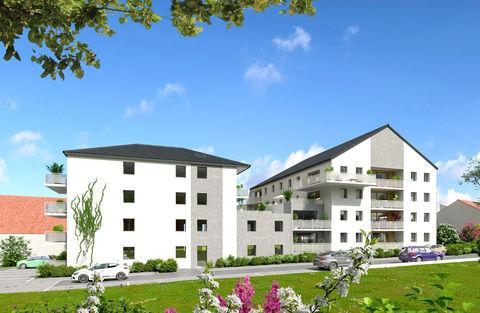T2 de 49.67 m2 - Résidence Côté Village Coin les Cuvry 144000 Coin-lès-Cuvry (57420)