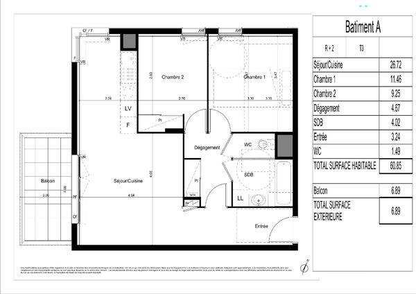 annonce vente appartement l 39 isle d 39 abeau 38080 61 m. Black Bedroom Furniture Sets. Home Design Ideas