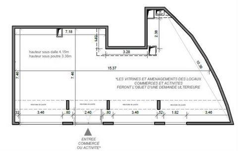 Locaux commerciaux - A LOUER - 113 m² non divisibles 2260 91260 Juvisy sur orge