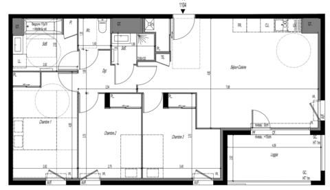 Nouveau T4 avec son balcon 231999 Vienne (38200)