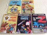Lot de 5 BD Spirou et Fantasio 1983/1986 45 Gif-sur-Yvette (91)
