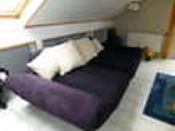 Canapé panoramique velours (57) - 300 €