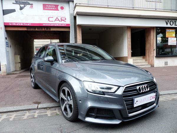 voiture audi a3 sportback 2 0 tdi 150 quattro s line occasion diesel 2017 2400 km 31990. Black Bedroom Furniture Sets. Home Design Ideas