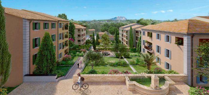 Vente -   Appartement - 3 pièce(s) - 65 m² Superbe T3 de 64,80 m² avec loggia et parking privatif - Aix en Provence 13100   Aix-en-provence (13)