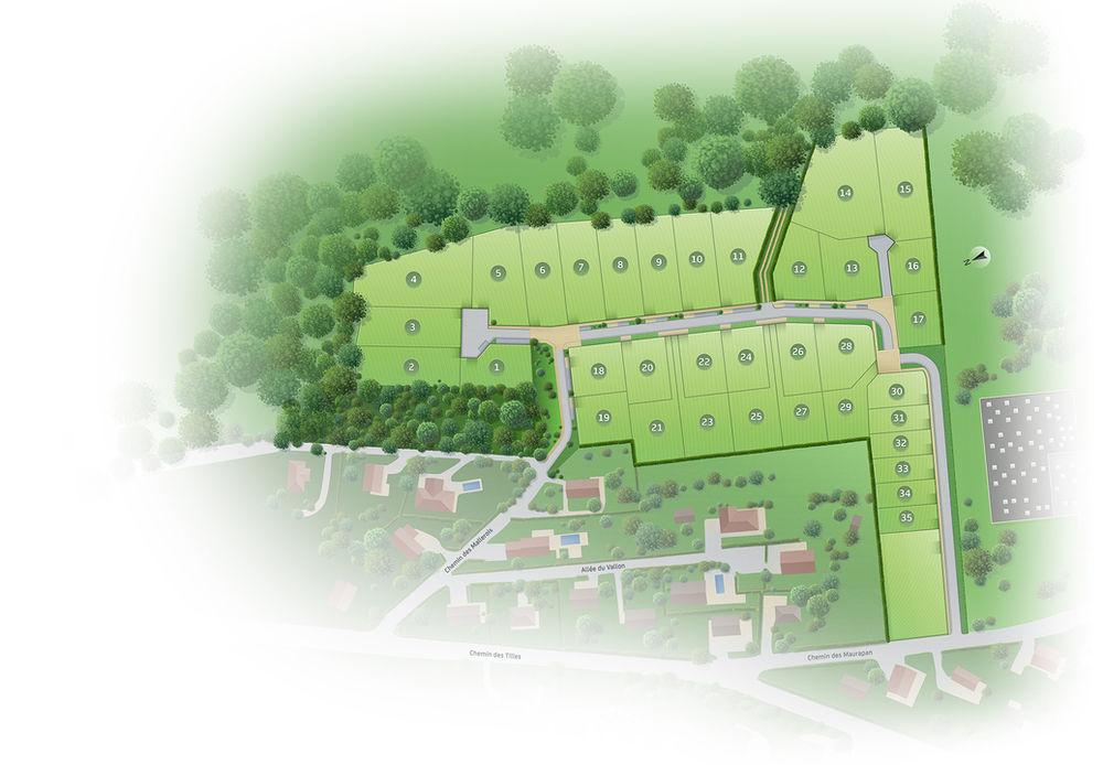 Vente -   Terrain - 458 m²    Chatillon Le Duc (25)