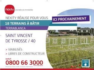 Vente -   Terrain - 348 m²    St Vincent De Tyrosse (40)