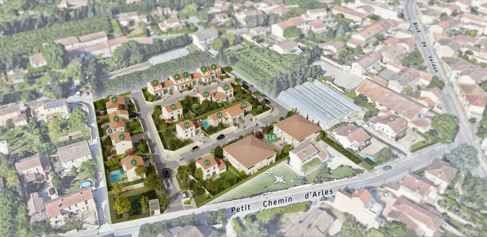 Vente -   Terrain - 353 m²    Rognonas (13)