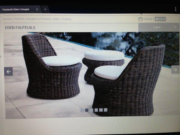 Achetez fauteuils et table quasi neuf, annonce vente à Herblay (95 ...