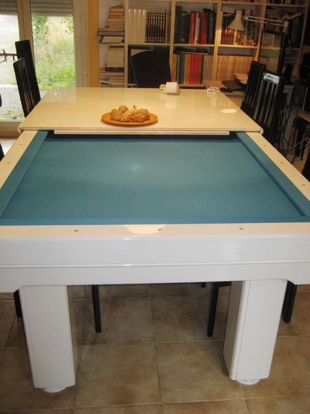 billard franais contemporain laqu blanc plateaux - Table Billard Occasion