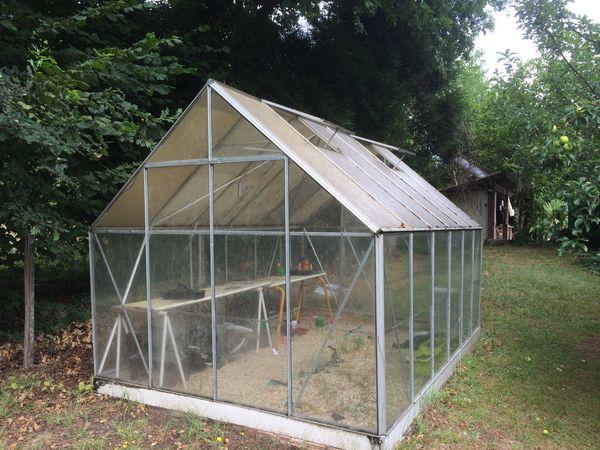 Jardin d\'hiver en verre trempé 4mm carré Lams EURO-PYRA 3.09m ou 3.80m