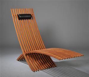 Chaise Longue En Teck Design Sueacutedois Meubles