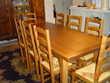 TABLE DE SALLE A MANGER BOIS ET 8 CHAISES PAILLE (69) - 390 €
