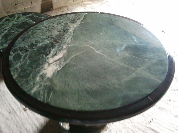 Table Bistrot Ronde Marbre.Tres Belle Table Ronde En Marbre Vert 130cm