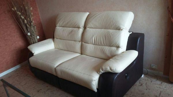 Canape Relax Cuir 3 Places Electrique 192x98x101 Cm