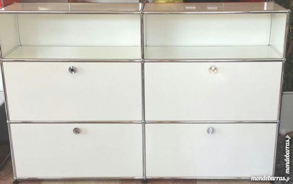 meuble usm haller 2 tiroirs 2 portes abattantes meubles