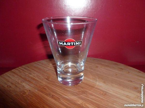 T33: 6 verres MARTINI, courts et évasés