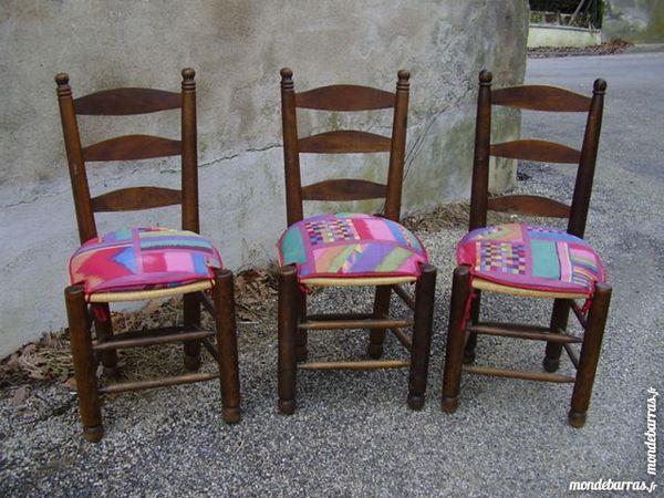 Trois Chaises Bois Meubles