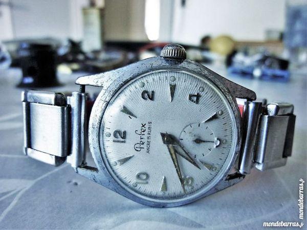 a13c626c87252 PERFEX montre ébauche Suisse 1955 homme MEC0090 Bijoux et montres