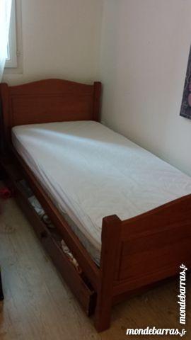 lit 1 place en bois et accessoires meubles - Lit Une Place