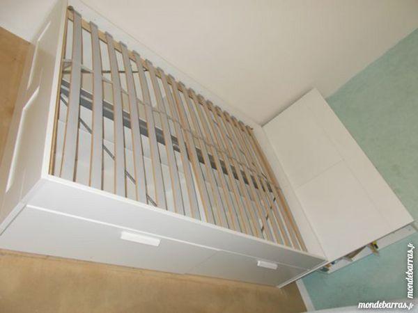 lit 2 places avec rangement meubles - Lit 2 Places Avec Rangement