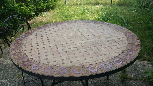 Table Fer Forgé Mosaique Occasion | lakesnake
