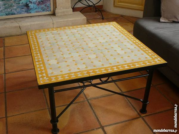 Table Fer Forge Mosaique Occasion.Table Basse Fer Forge Et Mosaique
