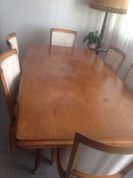 salle a manger des annes 70 table 6 personnes buffet meubles
